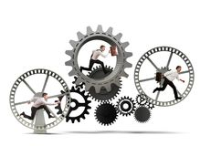 Sistema do mecanismo do negócio Fotografia de Stock Royalty Free