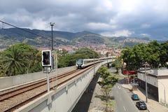 Sistema do metro em medellin, Colômbia fotografia de stock