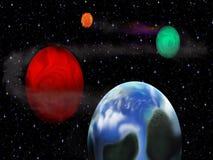 Sistema do planeta com fluxo de energia vídeos de arquivo