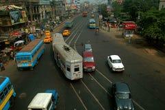 Sistema do tráfego em India Fotografia de Stock