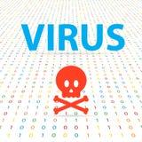Sistema do vírus para cortar dados digitais Imagem de Stock
