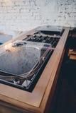 Sistema dobro do fi do estilo do moderno da plataforma giratória olá! Imagem de Stock Royalty Free
