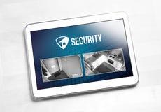 Sistema e aplicação de segurança interna na tabuleta imagens de stock