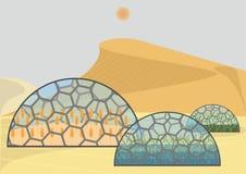 Sistema ecologico chiuso illustrazione di stock