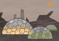 Sistema ecologico chiuso Concetto di uso illustrazione di stock
