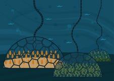 Sistema ecologico chiuso Concetto di uso illustrazione vettoriale