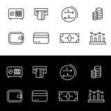 Sistema Editable de iconos de las finanzas libre illustration