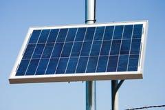 Sistema eléctrico solar Foto de archivo libre de regalías