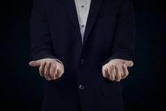 Sistema 9 el hombre de negocios está actuando Fotografía de archivo libre de regalías