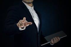 Sistema 9 el hombre de negocios está actuando Fotografía de archivo