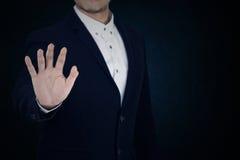 Sistema 9 el hombre de negocios está actuando Imagen de archivo libre de regalías