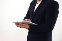 Sistema 9 el hombre de negocios está actuando Fotos de archivo libres de regalías