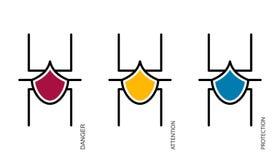 Sistema electrónico de la araña libre illustration