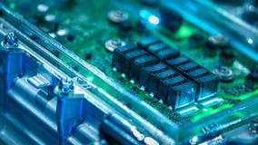 Sistema electrónico industrial de la placa de circuito fotografía de archivo libre de regalías