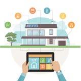 Sistema elegante de la casa stock de ilustración