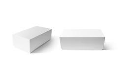 Sistema elegante de la maqueta de la caja del teléfono del cartón blanco llano Fotografía de archivo libre de regalías