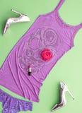 Sistema elegante de la moda Equipo del diseño Víspera de Todos los Santos Imagenes de archivo