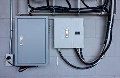 Sistema elettrico in gabinetto Immagini Stock Libere da Diritti