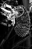 Sistema em mudança da engrenagem das bicicletas fotografia de stock royalty free
