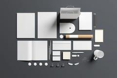 Sistema en blanco de los efectos de escritorio aislado en gris libre illustration