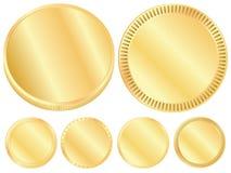 Sistema en blanco de moneda de oro