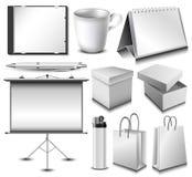 Sistema en blanco del objeto de la identidad corporativa Fotografía de archivo