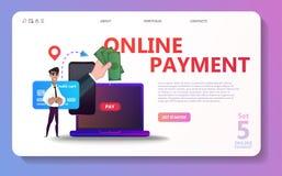 Sistema en línea del ejemplo del concepto del pago libre illustration