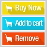 Sistema en línea del icono del comercio electrónico de las compras Imágenes de archivo libres de regalías