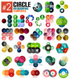 Sistema enorme de las plantillas infographic #2 del círculo ilustración del vector