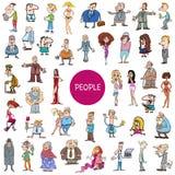 Sistema enorme de los caracteres de la gente de la historieta stock de ilustración