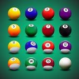 Sistema entero del vector de bolas de billar libre illustration
