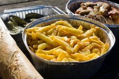 Sistema español de la comida campestre Foto de archivo libre de regalías