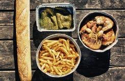 Sistema español de la comida campestre Foto de archivo