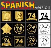 Sistema español de plantillas del número 74 libre illustration
