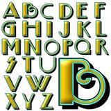 Sistema especial del diseño del alfabeto de ABC Imagen de archivo