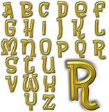 Sistema especial del diseño del alfabeto de ABC Fotografía de archivo