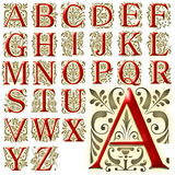 Sistema especial del diseño del alfabeto de ABC Fotos de archivo