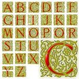 Sistema especial del diseño del alfabeto de ABC Fotografía de archivo libre de regalías