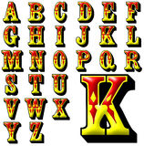 Sistema especial del diseño del alfabeto de ABC Imágenes de archivo libres de regalías
