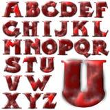 Sistema especial del diseño del alfabeto de ABC Imagenes de archivo