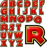 Sistema especial del diseño del alfabeto de ABC Imagen de archivo libre de regalías