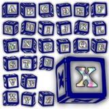 Sistema especial del diseño del alfabeto de ABC Fotos de archivo libres de regalías