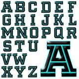 Sistema especial del diseño del alfabeto de ABC Foto de archivo libre de regalías