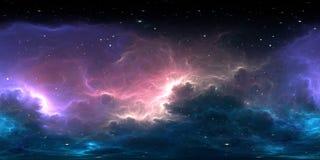 sistema estelar de 360 graus e nebulosa do g?s Mapa do ambiente 360 HDRI Proje??o de Equirectangular, panorama esf?rico foto de stock