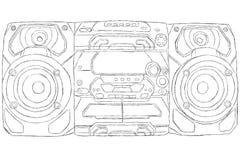 Sistema estereofónico compacto ilustração stock