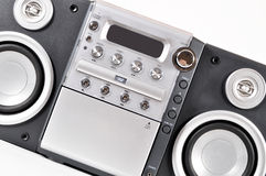 Sistema estereofónico compacto imagens de stock