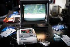 Sistema estupendo del entretenimiento de Nintendo Fotos de archivo