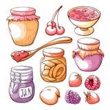 Sistema exhausto de la mano del atasco de la fruta y de la baya libre illustration