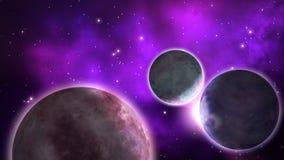 sistema Exo-planetario bucle stock de ilustración