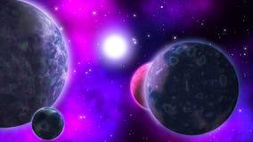 sistema Exo-planetario bucle libre illustration